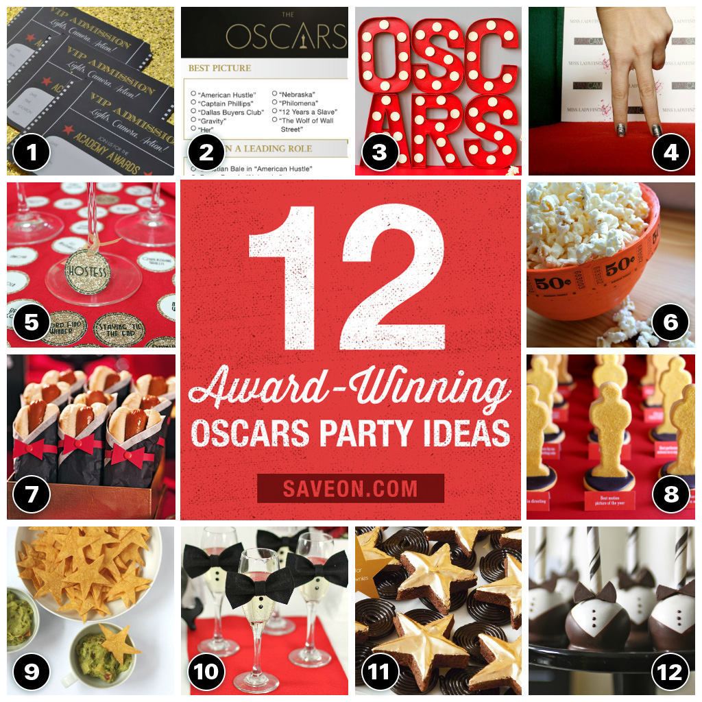oscars viewing party ideas